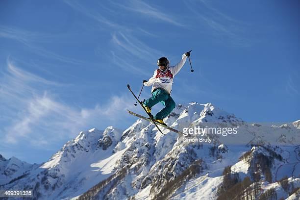 2014 Winter Olympics Finland Aleksi Patja in action during Men's Ski Slopestyle Qualification at Rosa Khutor Extreme Park Krasnaya Polyana Russia...
