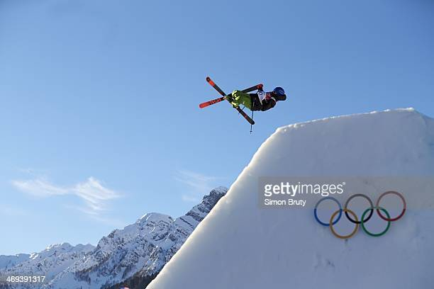 2014 Winter Olympics Italy Markus Eder in action during Men's Ski Slopestyle Qualification at Rosa Khutor Extreme Park Krasnaya Polyana Russia...
