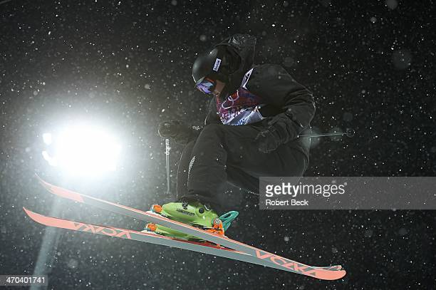 2014 Winter Olympics New Zealand Lyndon Sheehan in action during Men's Ski Halfpipe Qualification at Rosa Khutor Extreme Park Krasnaya Polyana Russia...