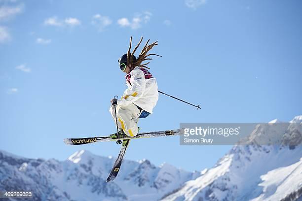 2014 Winter Olympics Sweden Henrik Harlaut in action during Men's Ski Slopestyle Qualification at Rosa Khutor Extreme Park Krasnaya Polyana Russia...