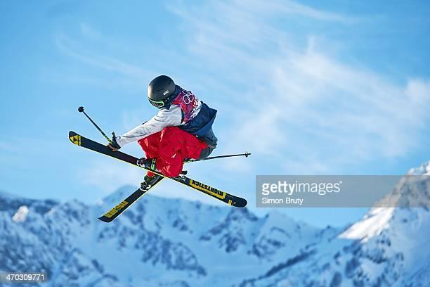 2014 Winter Olympics USA Joss Christensen in action during Men's Ski Slopestyle Qualification at Rosa Khutor Extreme Park Christensen won gold...