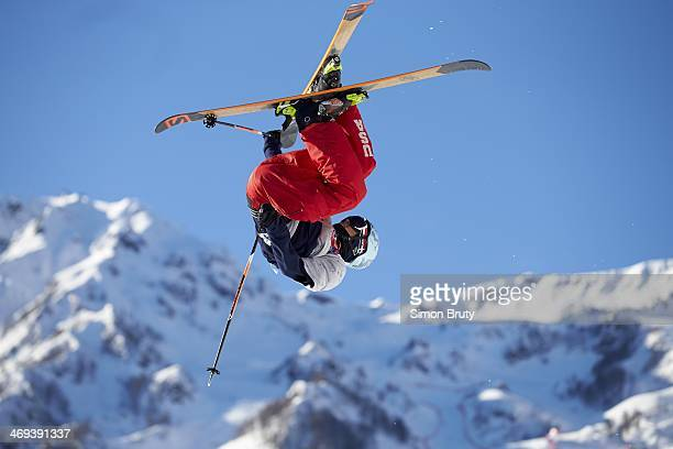 2014 Winter Olympics USA Nicholas Goepper in action during Men's Ski Slopestyle Qualification at Rosa Khutor Extreme Park Krasnaya Polyana Russia...