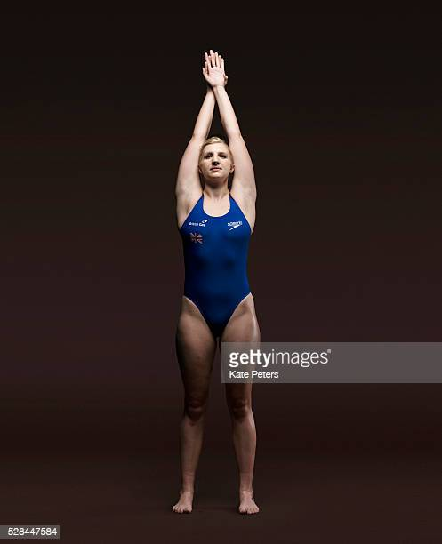 Freestyle swimmer Rebecca Adlington is photographed for the Guardian on March 10 2012 in London England