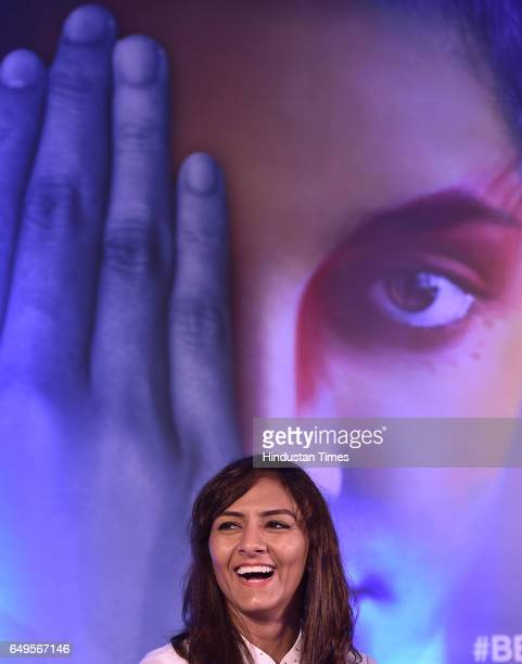 Freestyle wrestler Geeta Phogat interacts with women on the occasion International Women's Day at a function in Ericsson Forum DLF Cybercity on March...