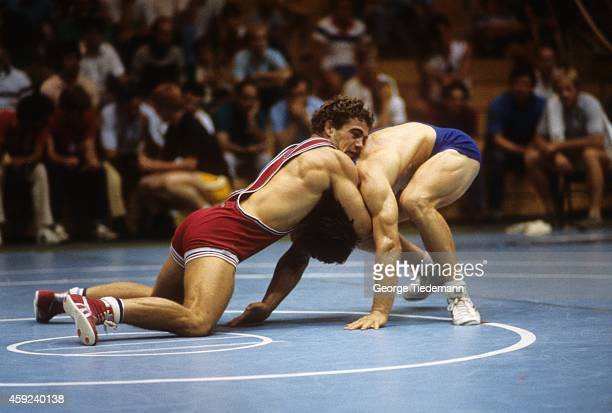 US Olympic Trials Mark Schultz in action during match at Grand Valley State University Allendale MI CREDIT George Tiedemann