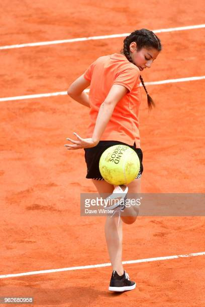 Freestyler Lisa Zimouche during the Charity Children's Day at the French Open 2018 on May 26 2018 in Paris France