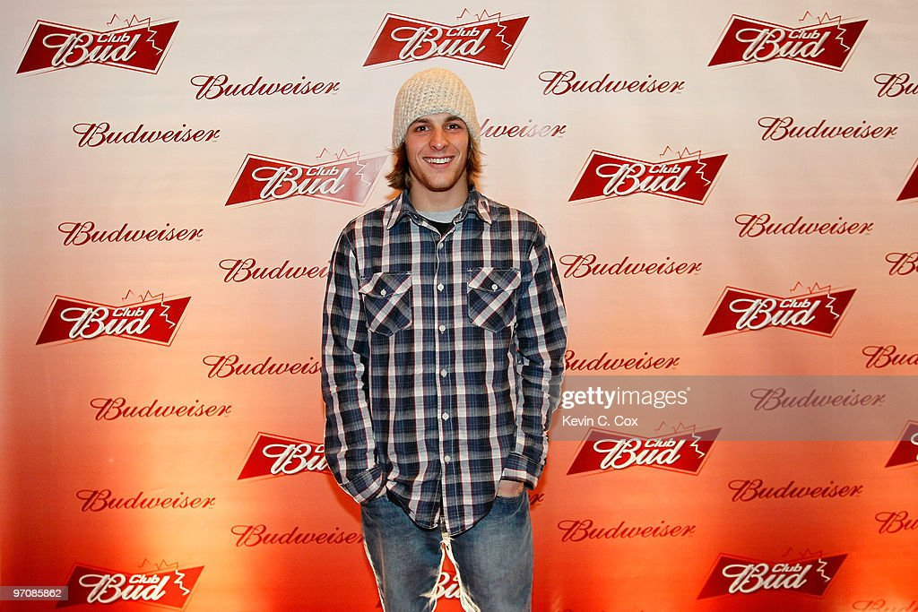 Freestyler skiier Matt DePeters arrives at the Club Bud Budweiser Party on February 25, 2010 at the Commodore Ballroom in Vancouver, Canada.