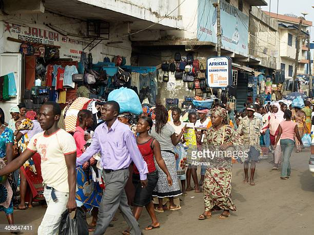 freetown city center - freetown sierra leone stock pictures, royalty-free photos & images