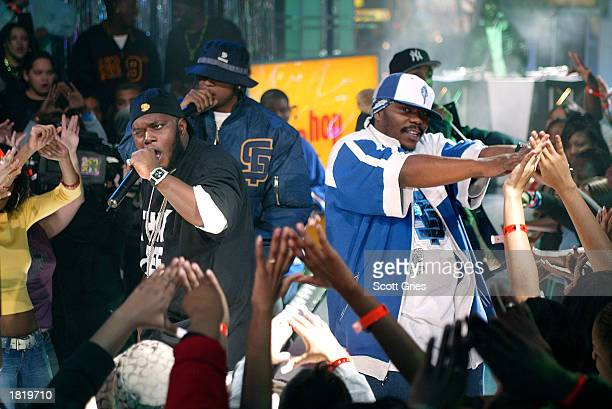 Freeway and Beenie Siegel perform during MTV's Direct Effect at the MTV studios February 27 2003 in New York City