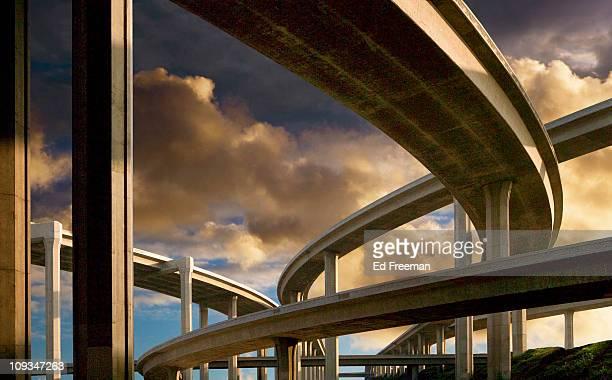 Freeway at Sunset