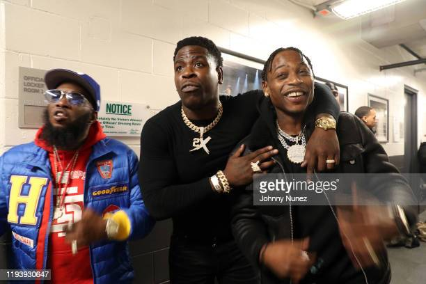 Freeway Casanova and Lil Tjay attend D'usse Palooza at Barclays Center on December 13 2019 in New York City
