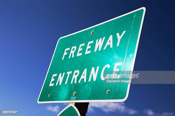 Freeway Entrance to Route 101 Ventura California