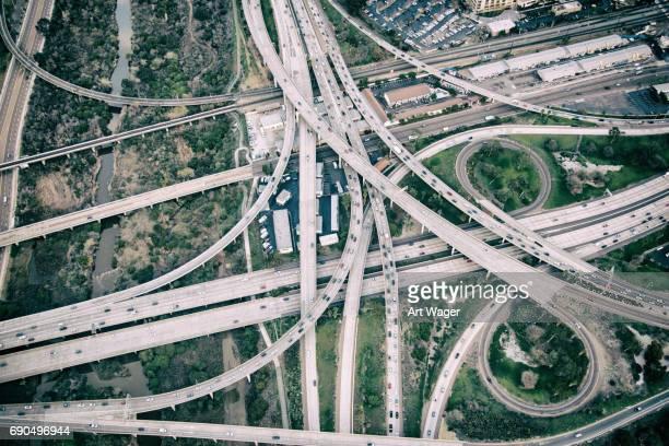 Freeway Interchange Aerial
