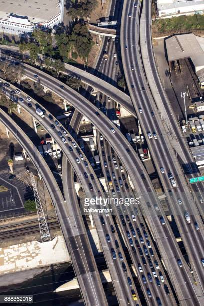 LA Freeway Interchange from Above (I-10/SR 60)