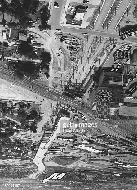 JUL 6 1962 JUL 10 1963 Freeway Progresses In North Denver A wide ribbon of concrete is sailing across north Denver as work progresses on the elevated...