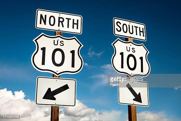 US 101 freeway road sign