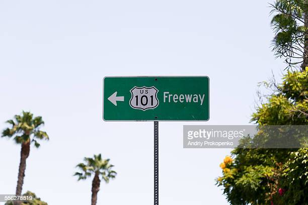 US 101 Freeway Road Sign