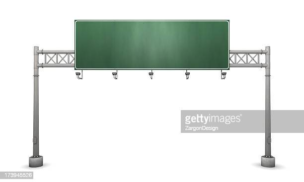 Freeway sign blank