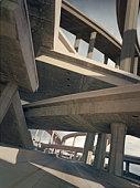 Freeways, low angle view
