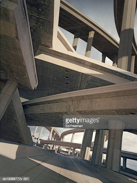 Freeways, low angle view