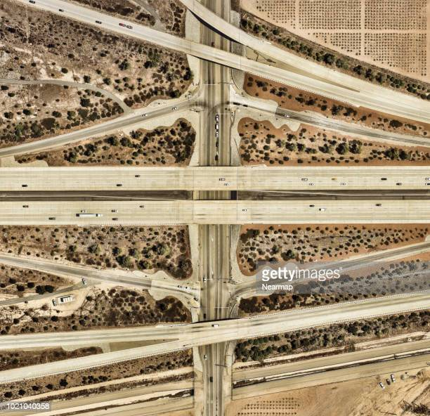 Freeways roads. Los Angeles, California