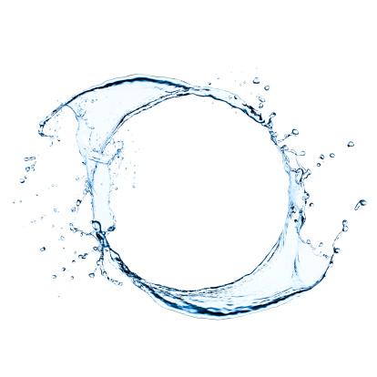 Freeze frame photo of splashing water swirl 173193065