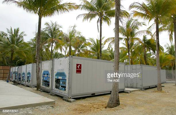 Freezers at the new Kenyon International Repatriation Centre in Phuket Thailand for the bodies of foreigners killed by the tsunami 18th January 2005...
