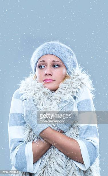 freezing - parka coat stock photos and pictures