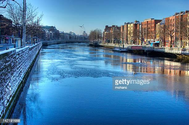 Freezing river in Dublin