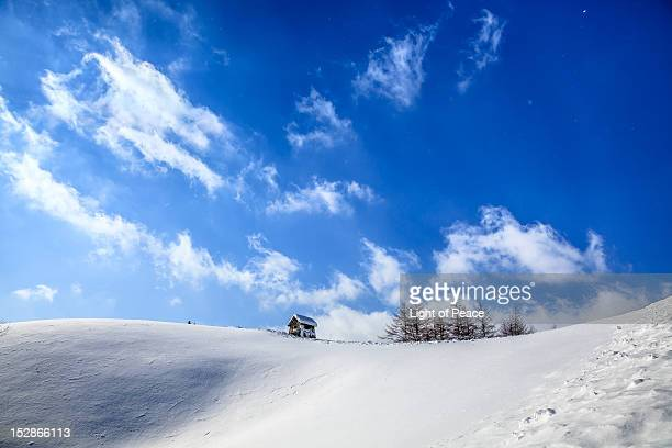 Freezing snow mountain