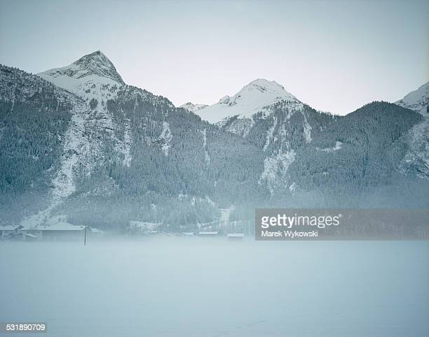 freezing winter time in mountains - laengenfeld stock pictures, royalty-free photos & images