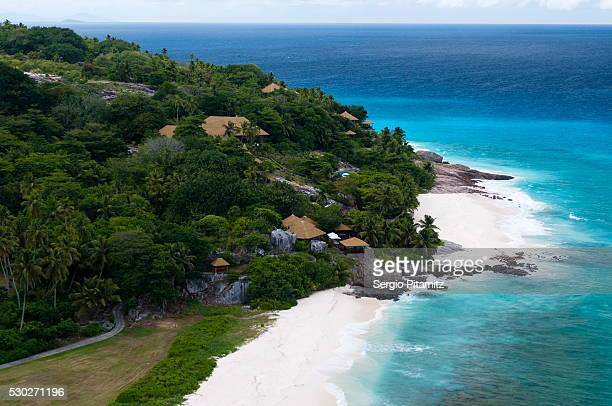 fregate island, seychelles, indian ocean, africa - fregate stock photos and pictures