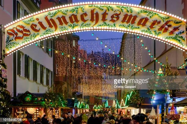 freiburg im breisgau, christmas market (baden-württemberg, germany) - freiburg im breisgau stock pictures, royalty-free photos & images