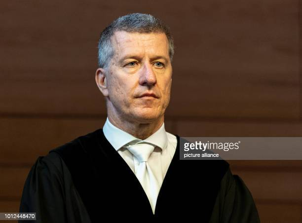 The presiding judge Stefan Bürgelin is about to pass sentence in the courtroom In the trial of the heavily abused boy from Staufen who was sold to...