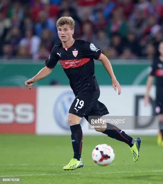 FUSSBALL DFB SC Freiburg VfB Stuttgart Timo Werner mit Ball
