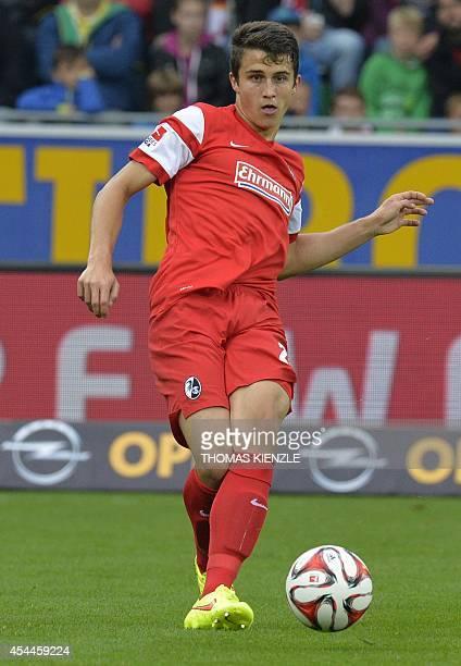 Freiburg's defender MarcOliver Kempf controls the ball during the German first division Bundesliga football match SC Freiburg vs Borussia...