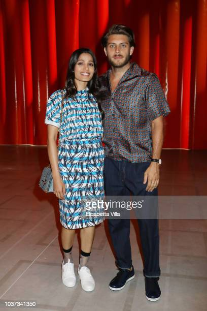 Freida Pinto and Cory Tran attend Theaster Gates Spike Lee and Dee Rees in conversation with Okwui Enwezor for the presentation of film program...