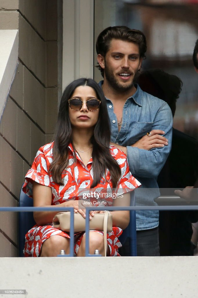 Freida Pinto and her boyfriend attend Nadal and Serena ...