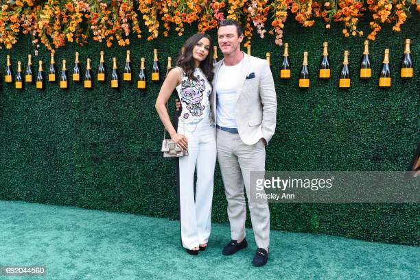 Freida Pinto and Luke Evans attend The Tenth Annual Veuve Clicquot Polo Classic Arrivals at Liberty State Park on June 3 2017 in Jersey City New...