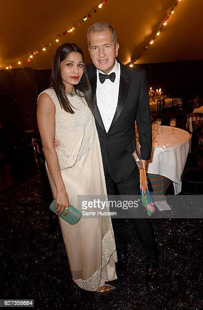 Freida Pinto and Mario Testino attend the gala dinner as The Business of Fashion Presents VOICES on December 2 2016 in Oxfordshire England
