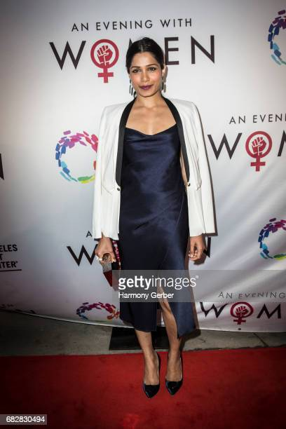 Freida Pinto arrives to the Los Angeles LGBT Center's An Evening With Women at Hollywood Palladium on May 13 2017 in Los Angeles California