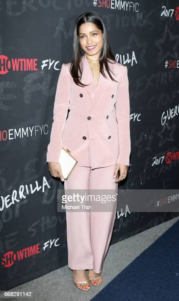 Freida Pinto arrvies at Showtime's Guerrilla FYC event held at The WGA Theater on April 13 2017 in Beverly Hills California