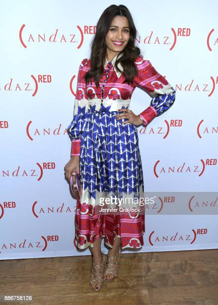 Freida Pinto at RED cabanas unveiling at Andaz West Hollywood on December 5 2017 in West Hollywood California Photo by Jennifer Graylock/Getty Images...