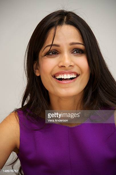 """Freida Pinto at the """"Trishna"""" Press Conference at the Four Seasons Hotel on July 19, 2012 in Beverly Hills, California."""