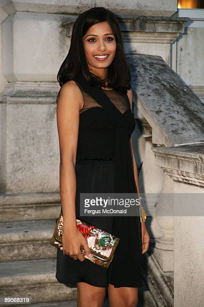 OUT** Freida Pinto attends a photo opportunity before introducing a showing of Slumdog Millionaire at the Film4 Summer Screen at Somerset House on...