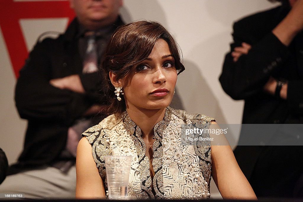 Freida Pinto attends 'El Somni', 'The Dream' Gastronimic Opera Performanceon May 6, 2013 in Barcelona, Spain.