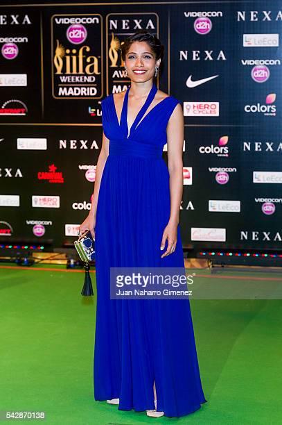 Freida Pinto attends IIFA Awards 2016 Rocks Green Carpet at Ifema on June 24 2016 in Madrid Spain