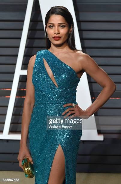 Freida Pinto attends the 2017 Vanity Fair Oscar Party hosted by Graydon Carter at Wallis Annenberg Center for the Performing Arts on February 26 2017...