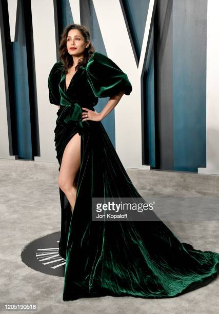 Freida Pinto attends the 2020 Vanity Fair Oscar Party hosted by Radhika Jones at Wallis Annenberg Center for the Performing Arts on February 09, 2020...