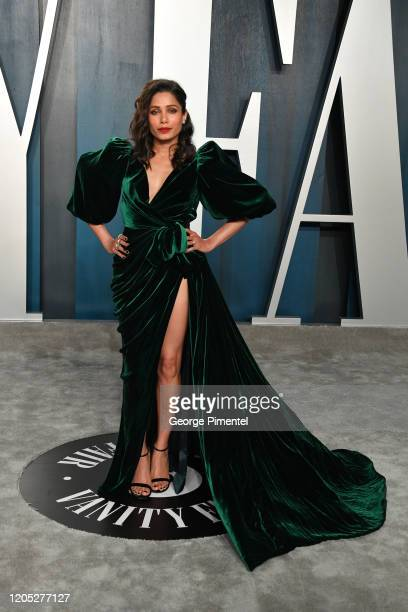 Freida Pinto attends the 2020 Vanity Fair Oscar party hosted by Radhika Jones at Wallis Annenberg Center for the Performing Arts on February 09 2020...